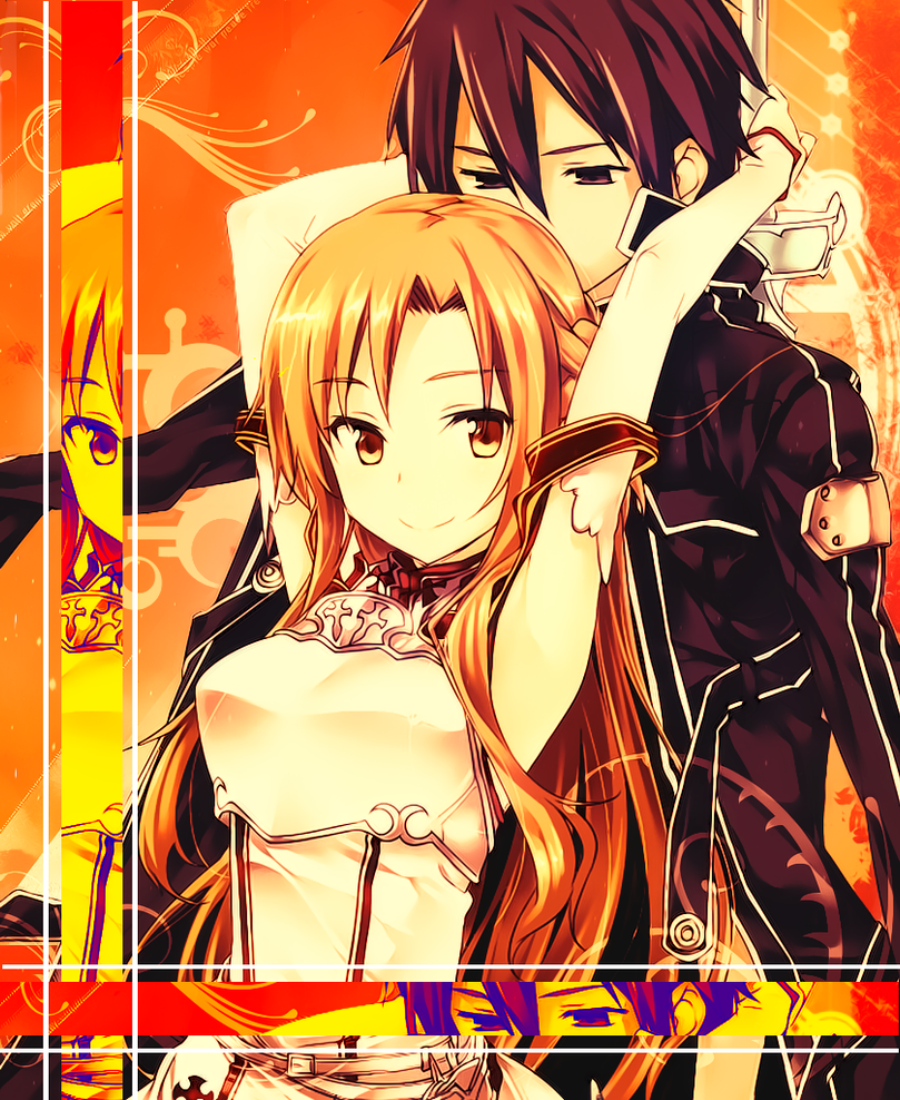 Asuna and Kirito 2 - Sword Art Online by jonatking