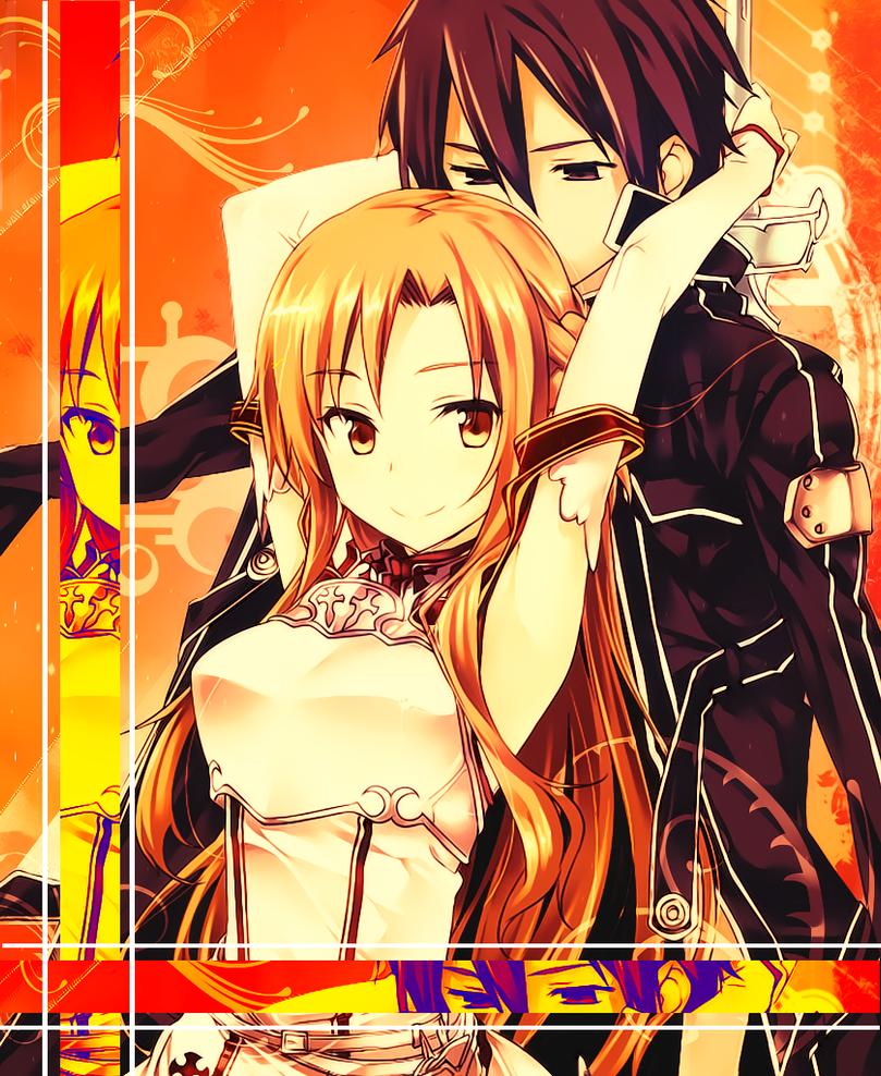 Asuna and Kirito 2 - Sword Art Online by jonatking