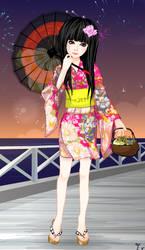 Tomoe-himesama on kimono by kanaruaizawa16