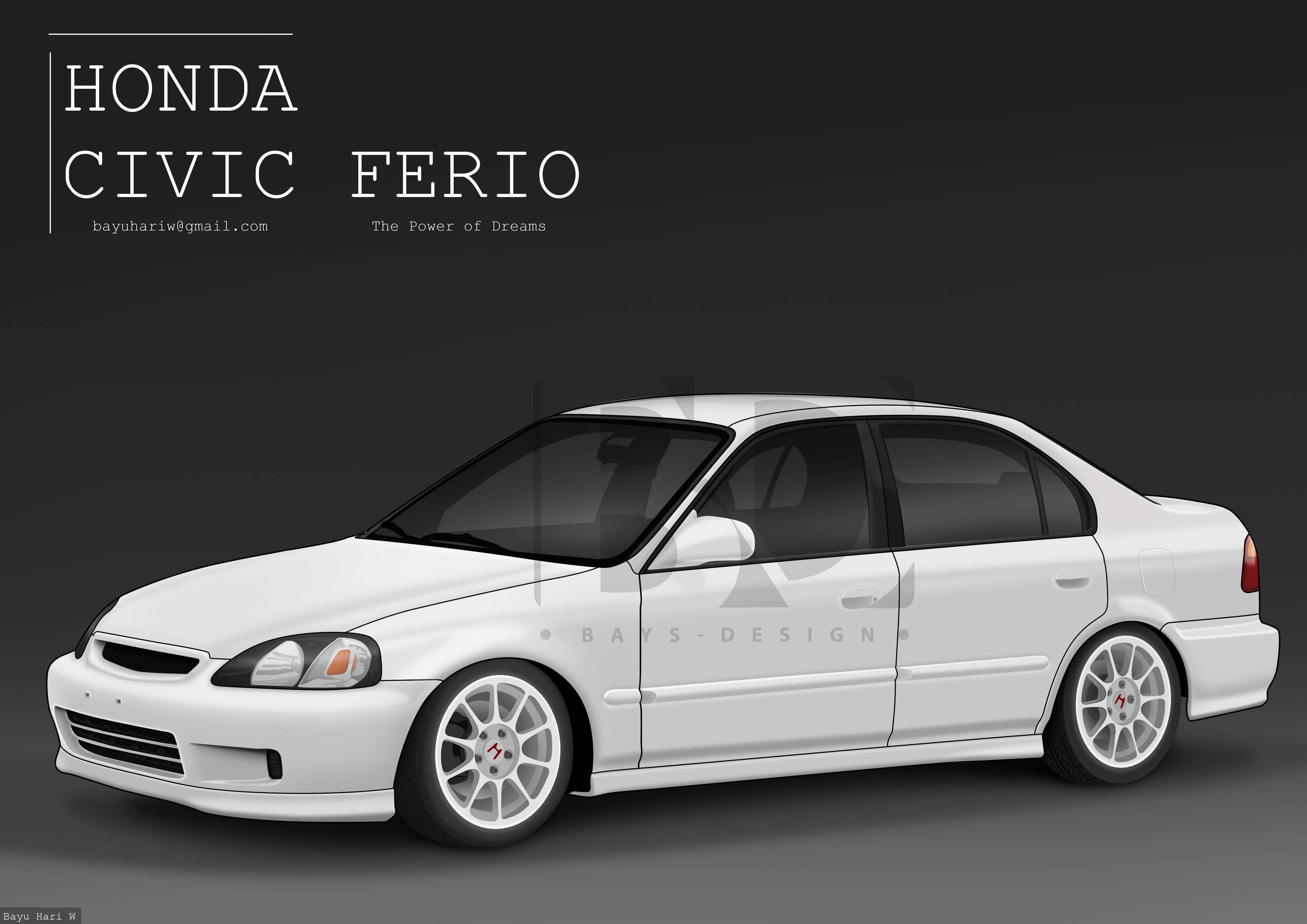 99 Civic Sedan: Honda Civic Ferio Sedan '99-00 By Bayuhariw On DeviantArt