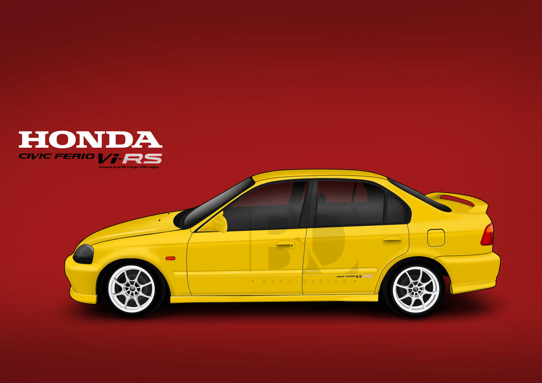 Honda Civic Ferio Vi Rs By Bayuhariw D E on Vtec Engine Drawing