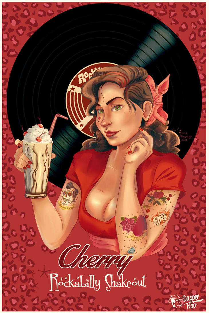 Cherry Rockabilly shakeout by DapperNoir