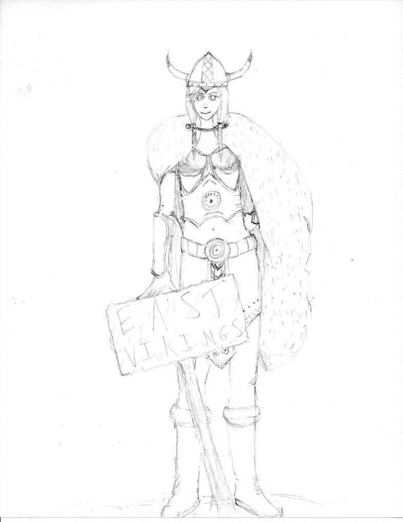 Female Viking by Mizore--Shirayuki