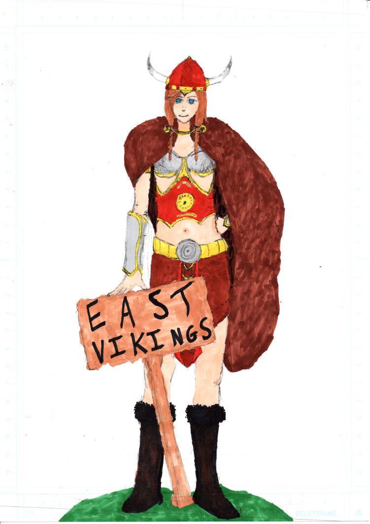 Female Viking (colored) by Mizore--Shirayuki