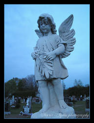 Little girl with wings