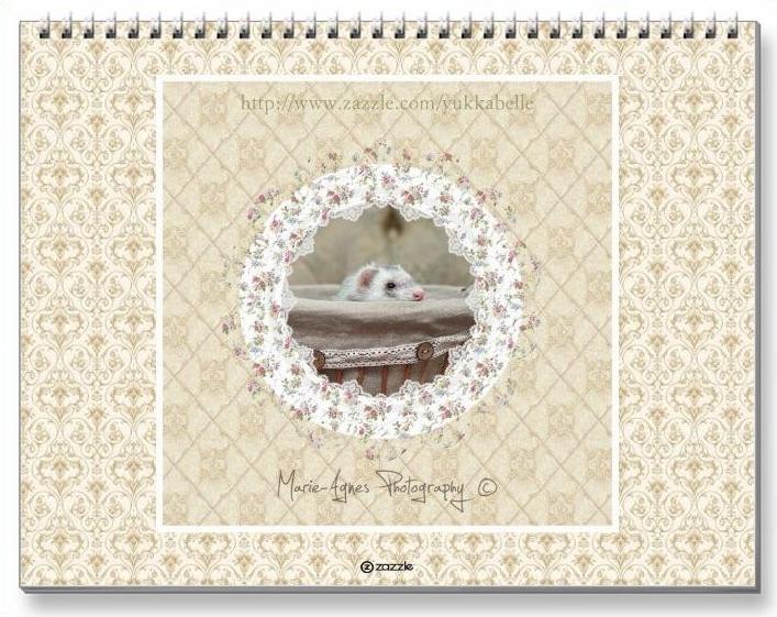 Ferrets Calendar - 4 - Back cover by Yukkabelle