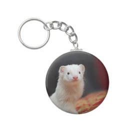 Ferret Lil Bear Key chain by Yukkabelle