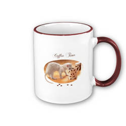 Coffee Time - Ferret mug -