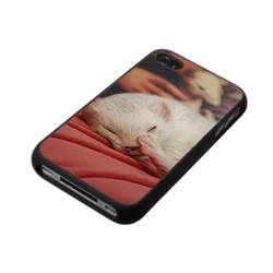 Furet sur coussin rose - Ferret iPhone case - by Yukkabelle