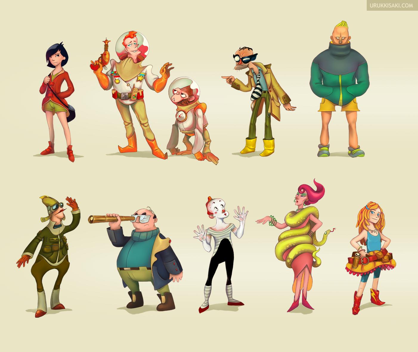 Game Character Design Contest 2015 : Character design vol i by urukkisaki on deviantart