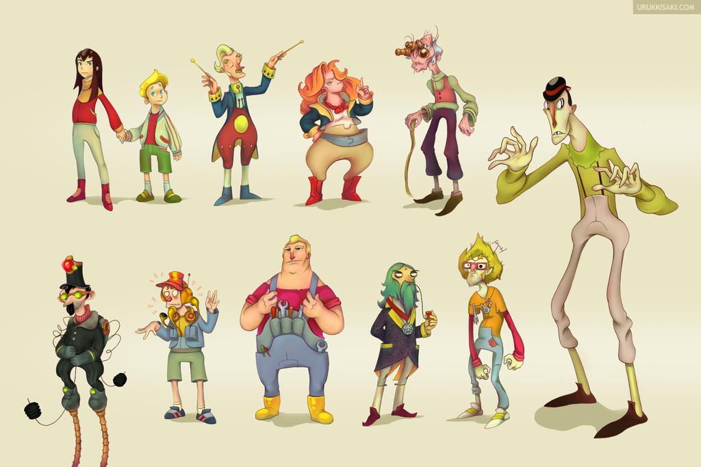 Deviantart Character Design : Character design vol iii by urukkisaki on deviantart