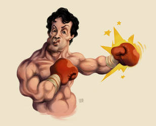Rocky Balboa cartoon by UrukkiSaki