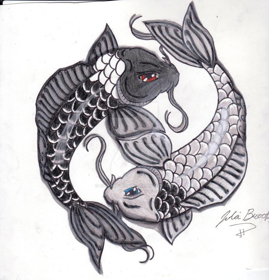 Yin and yang koi fish by angelkitty78750 on deviantart for Koi fish yin yang
