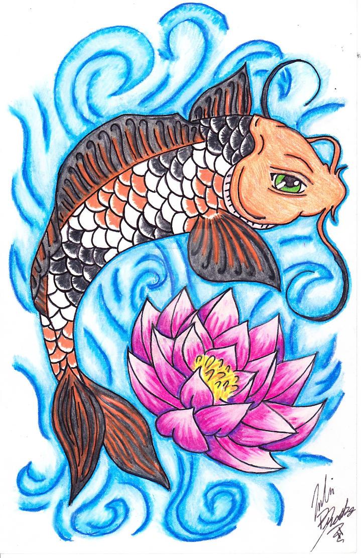 Calico koi lotus by angelkitty78750 on deviantart for Calico koi fish