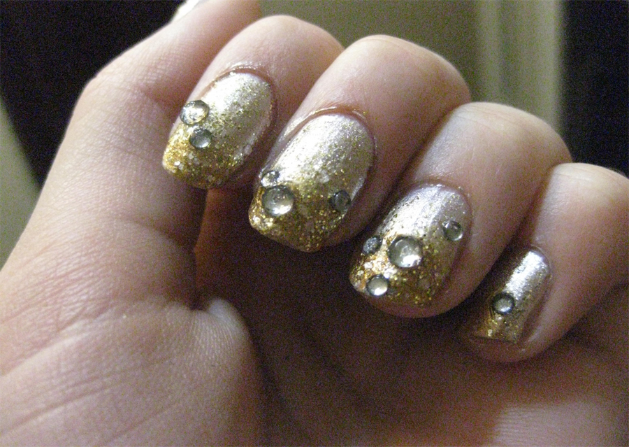 New Year Champagne Nails by ShidoniiChan on DeviantArt
