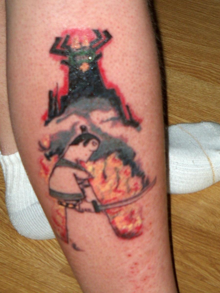 Samurai jack aku tattoo by dalemeinerccm on deviantart for Aku aku tattoo