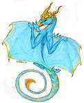Blue Dragon by StrayArya