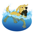 Labrador Retriever - Make a Splash! by StrayArya
