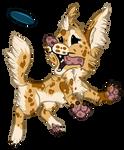 Quick Frisbee Dog Chibi by StrayArya