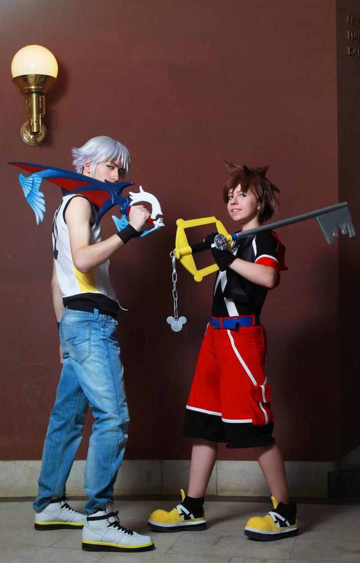 Sora and Riku by MargoIIIa