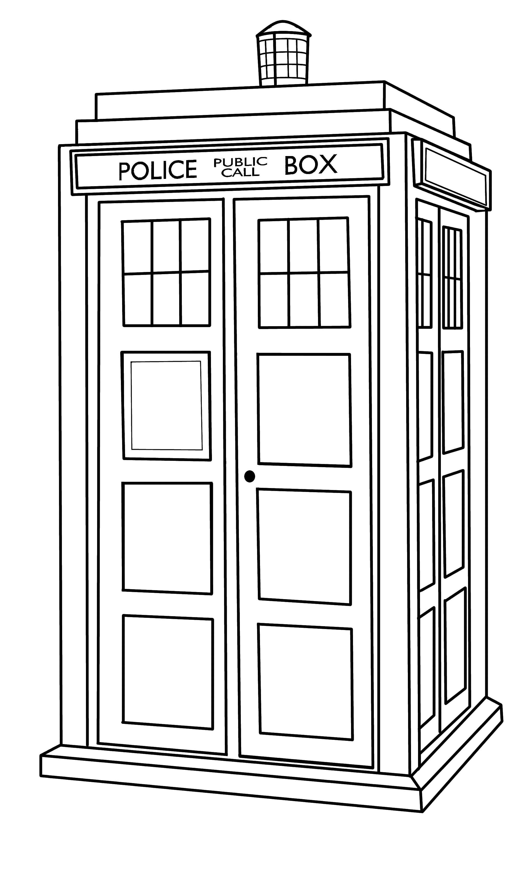 Tardis Outline by CallMePinTardis Vector Outline