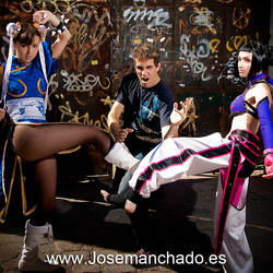 ID against Chun Li and Juri Ha by josemanchado