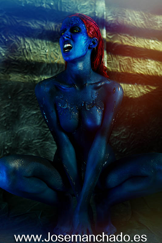 Body paint mystique x-men 1 by josemanchado
