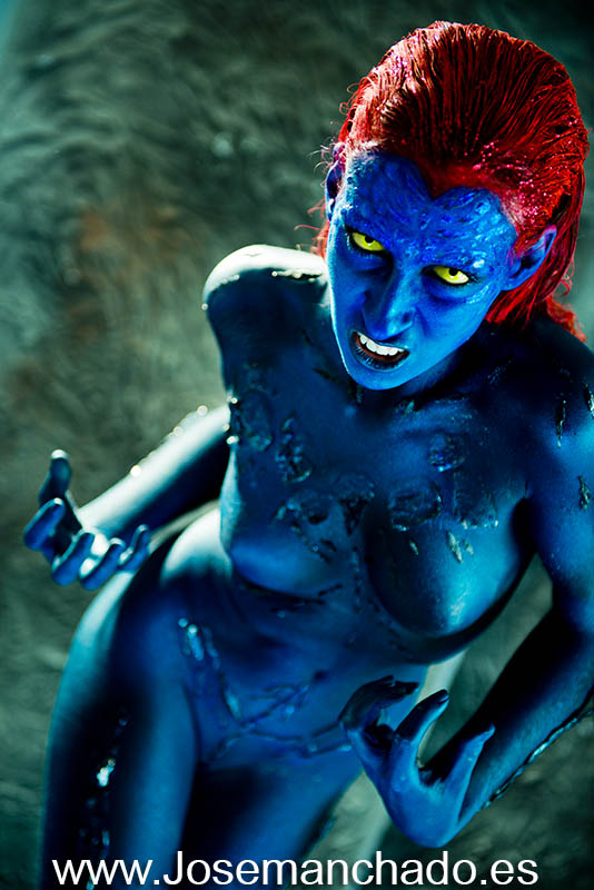 Body paint mystique x-men 2 by josemanchado