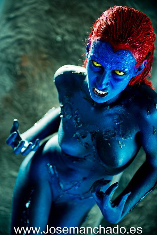 Body paint mystique x-men 2 by josemanchado