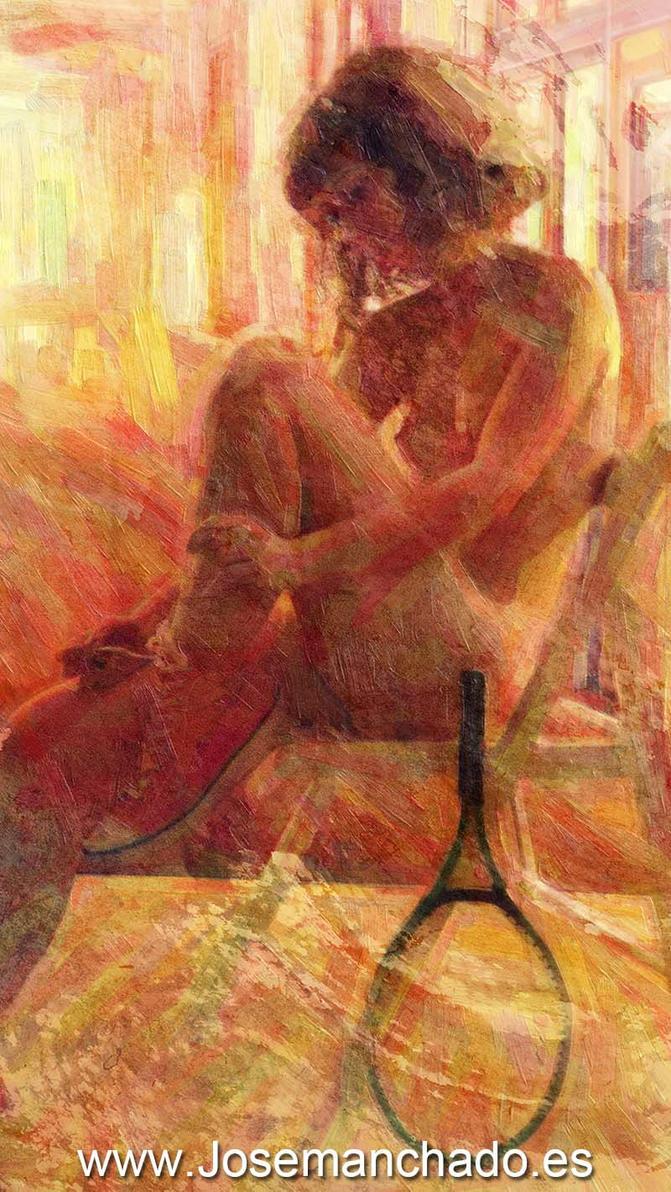 tenis painting by josemanchado