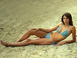 Silvia - at the beach by josemanchado