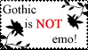 Gothic is NOT emo_stamp by PedigreeUnicorn
