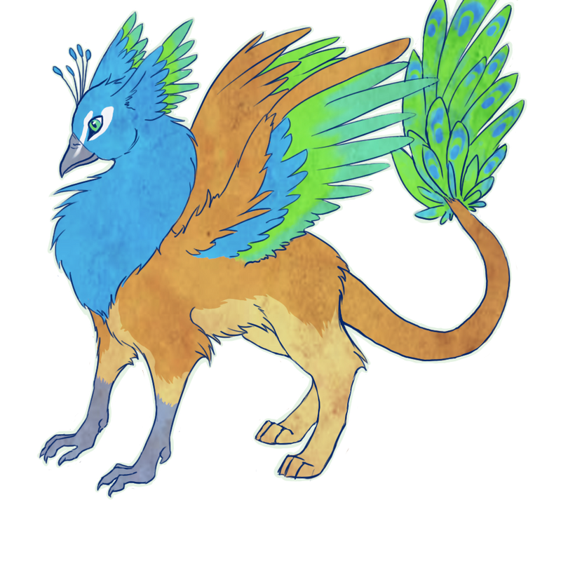 Panav the peacock gryphon by PedigreeUnicorn