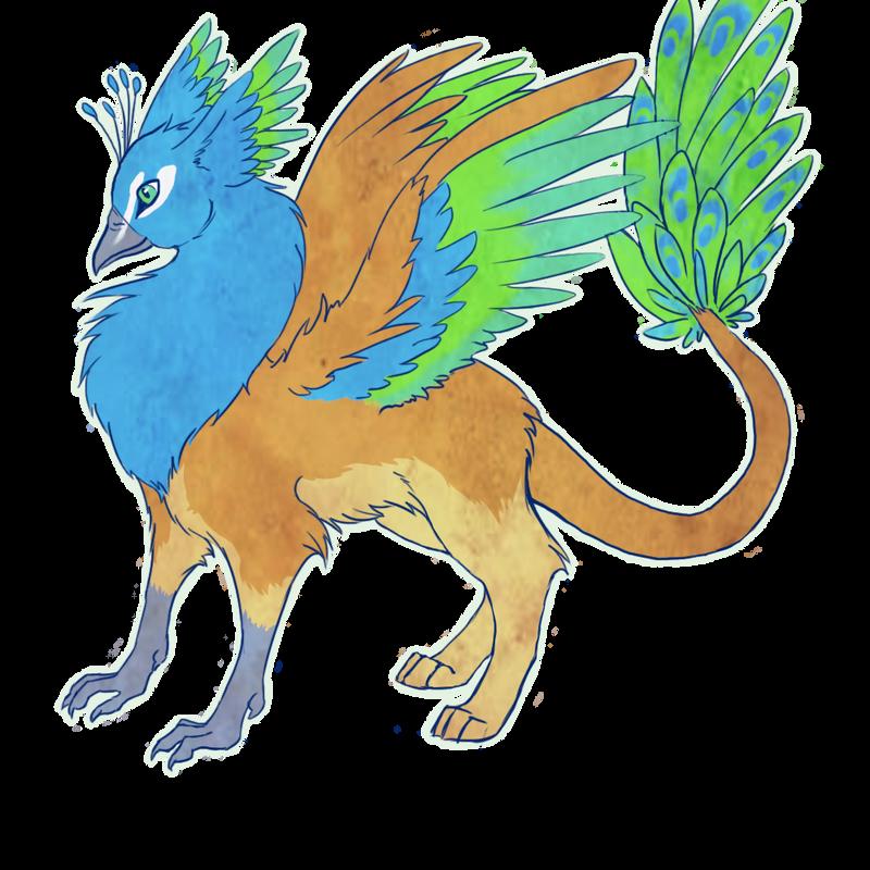 Panav the peacock gryphon by PedigreeUnicorn
