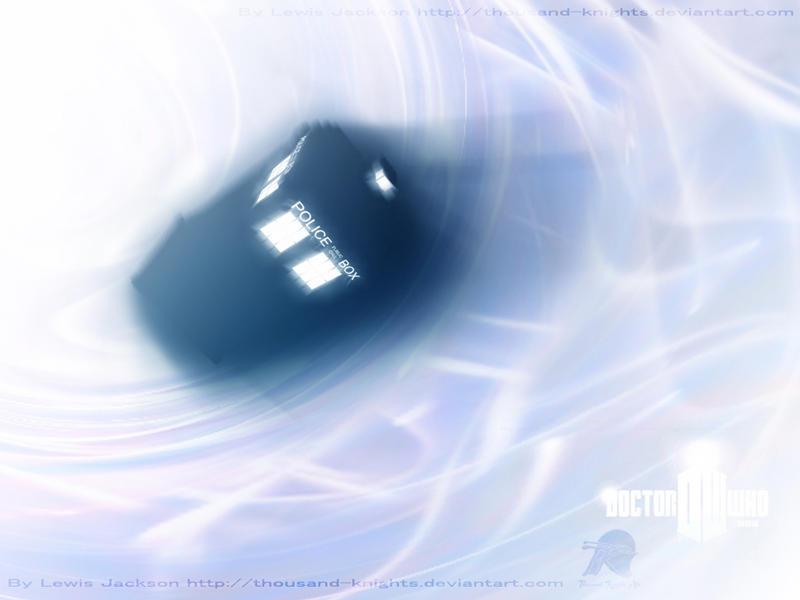 The Tardis in the Time Vortex by Thousand-Knights-Art