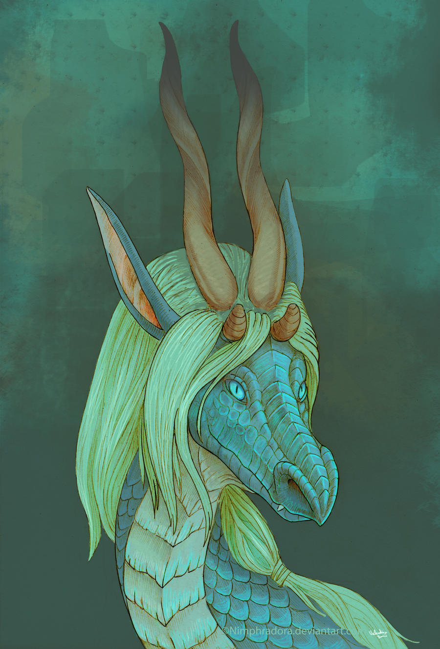 Dragon portrait - Raziel by Nimphradora