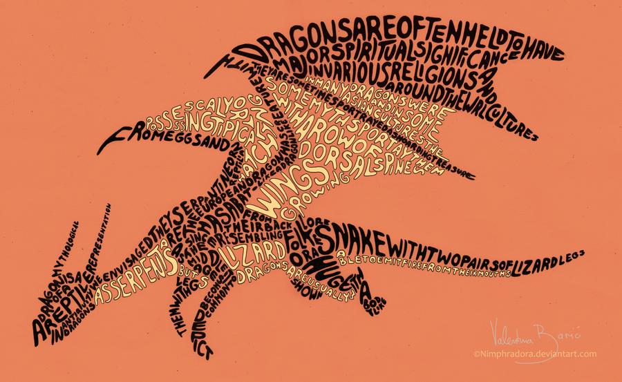 Draconic typography by Nimphradora
