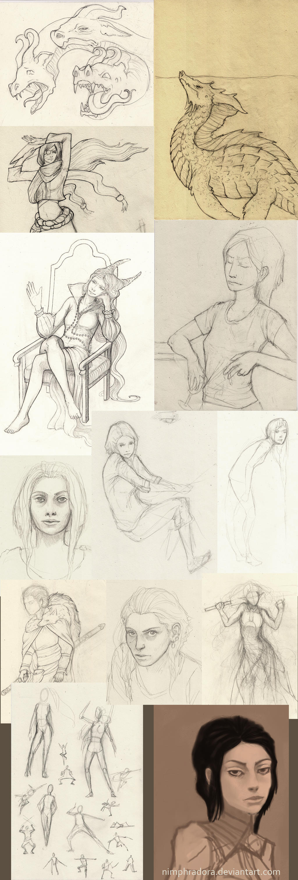 Sketches and studies by Nimphradora