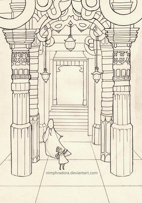 Temple Lineart by Nimphradora