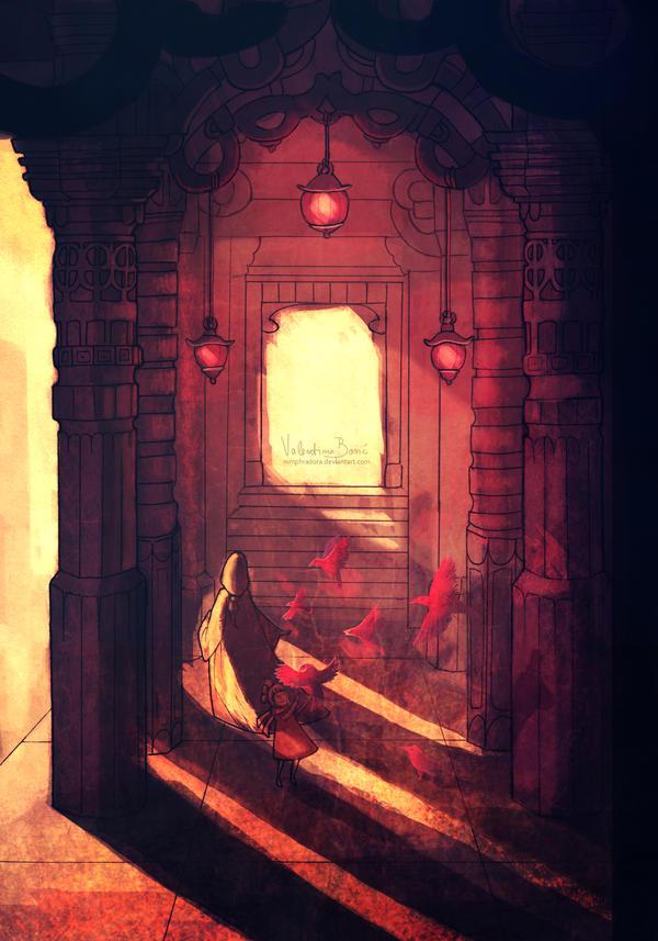 Temple of red birds by Nimphradora