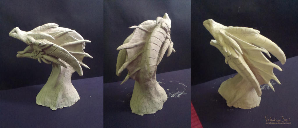 Dragon clay sculpture by Nimphradora