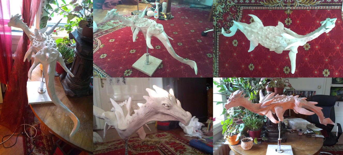 Sea dragon sculpture wip2 by Nimphradora