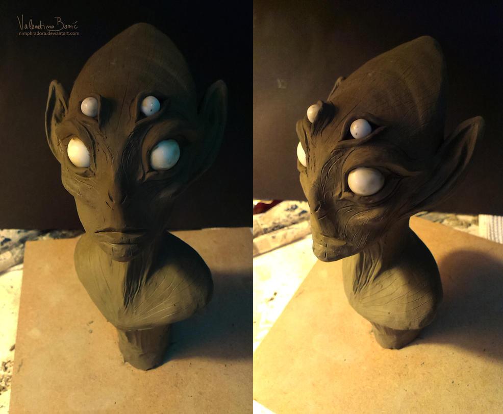 Female alien sculpt by Nimphradora
