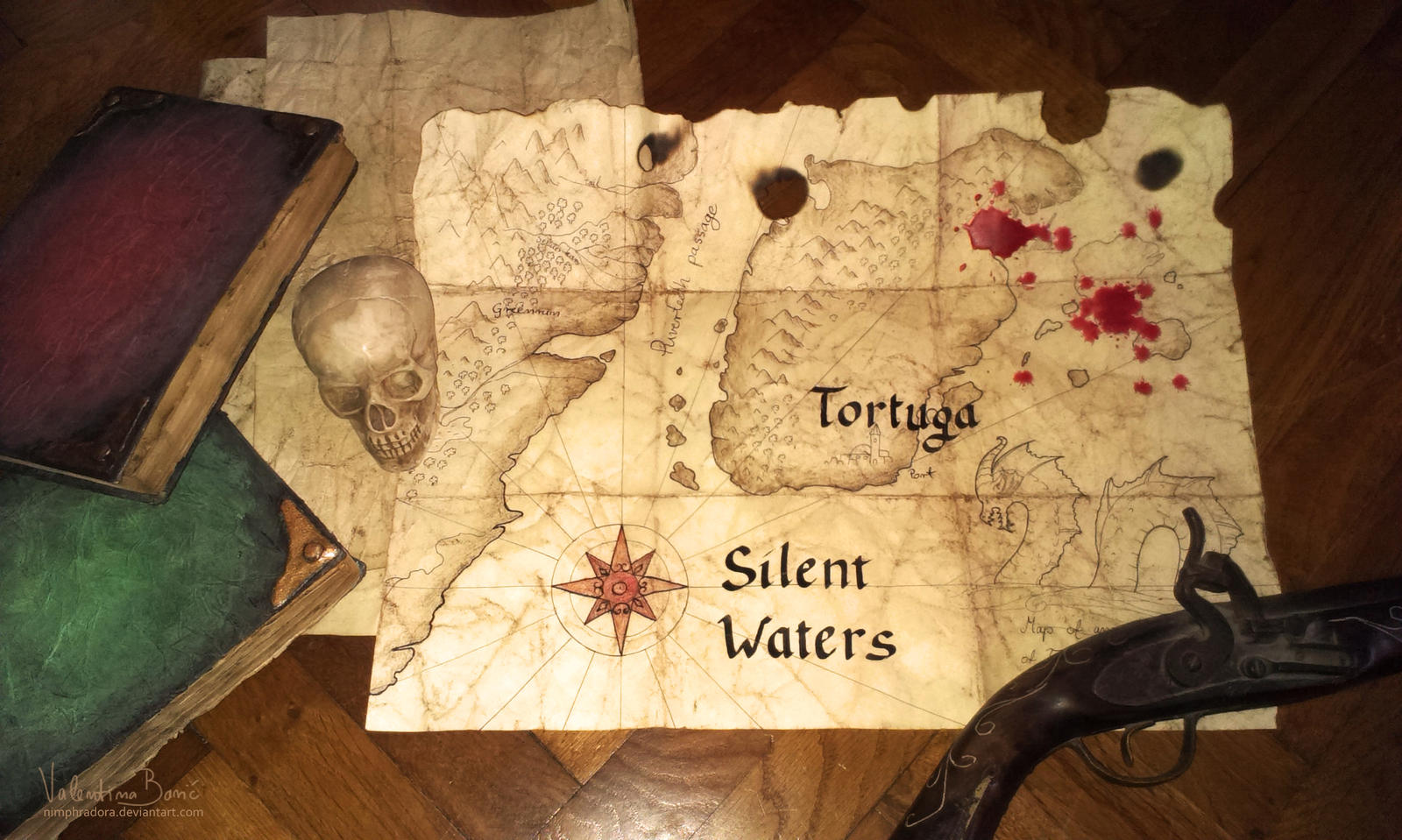 Pirate map by Nimphradora