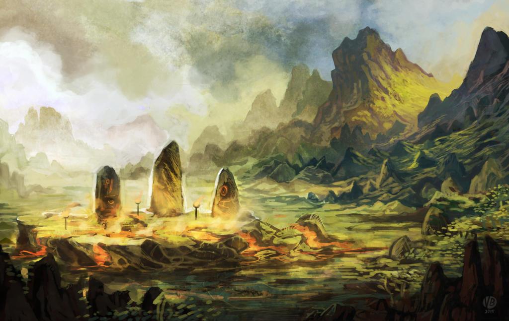 Environment concept - ritual site by Nimphradora