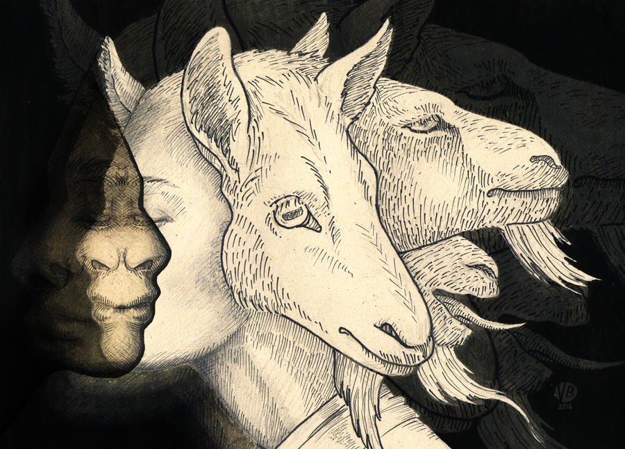 Goat queen II by Nimphradora