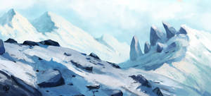 Snow scene + your character auction -closed