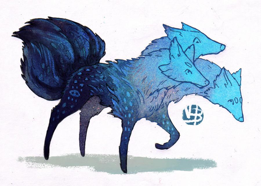 Fox critter design(blue) + base by Nimphradora