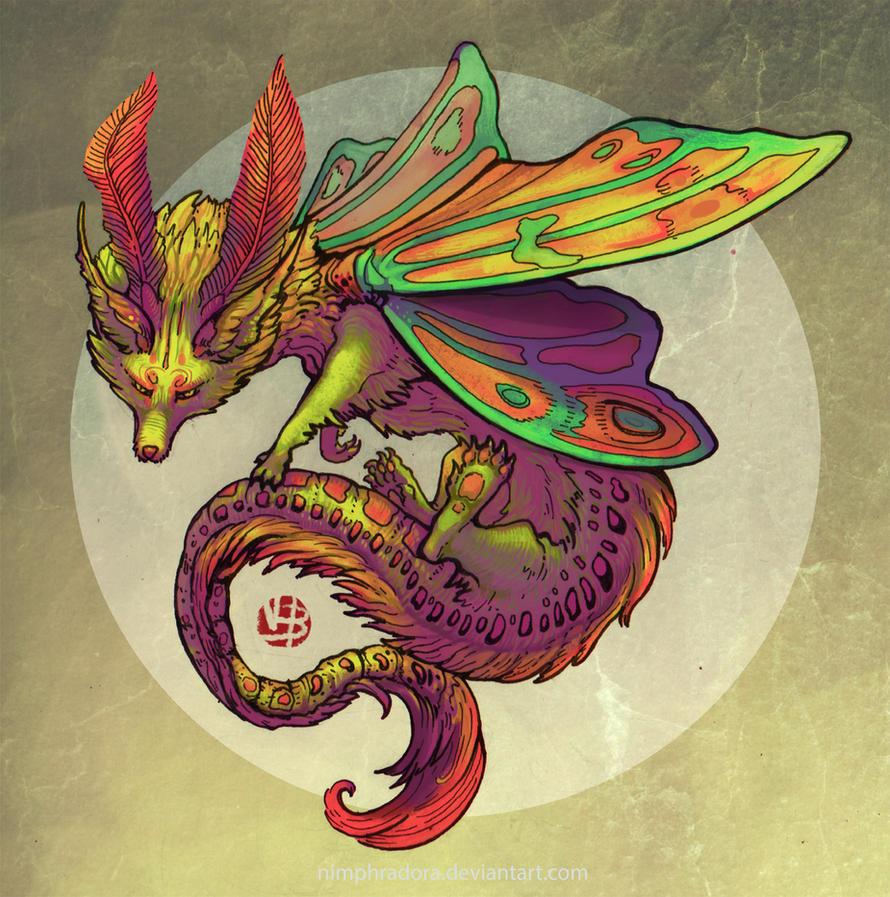 Fox-Moth Design 01 by Nimphradora