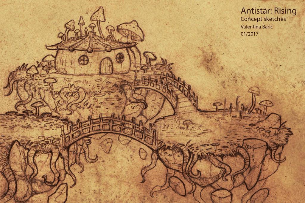 Antistar Concept Sketch - farm house by Nimphradora